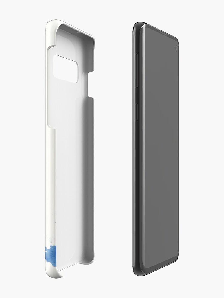 Alternate view of Blue Nebula Owl Case & Skin for Samsung Galaxy