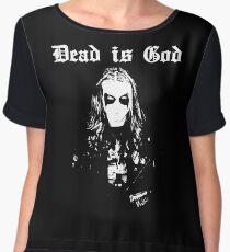 Dead is God, Mayhem Death Metal (White) Women's Chiffon Top