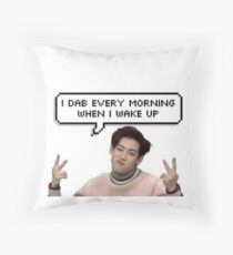 "Got7 Kpop - BamBam: ""I Dab Every Morning When I Wake Up"" Throw Pillow"