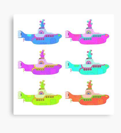 The Beatles' Yellow Submarine pop art theme Canvas Print