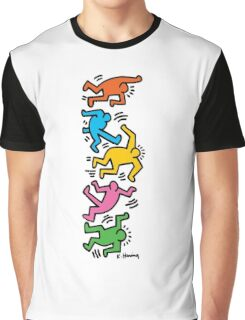 Keith Haring Color People Graphic T-Shirt