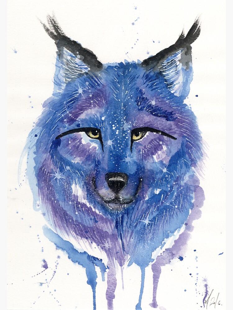 Purple Galaxy Wolf by creaturesofnat