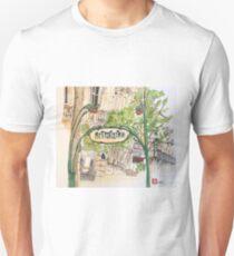 Paris Metropolitan Sign Unisex T-Shirt
