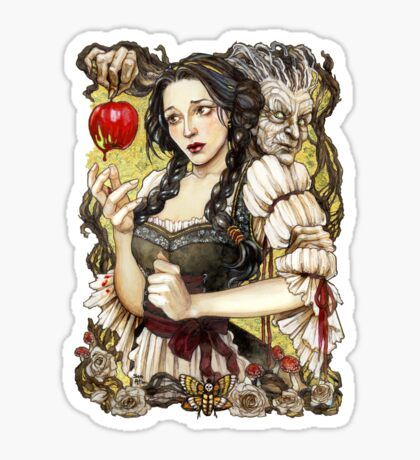 Snow White and the Poisoned Apple Sticker