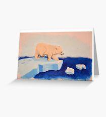 Polar Bear Floats Greeting Card