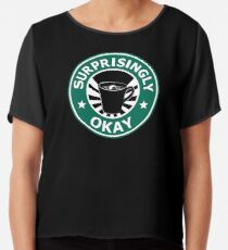 Sherlock's Coffee (Surprisingly Okay) Chiffon Top