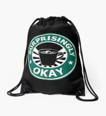 Sherlock's Coffee (Surprisingly Okay) Drawstring Bag