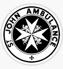 TARDIS St. John's Ambulance Logo (available as leggings!) Sticker