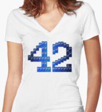TARDIS in 42 Women's Fitted V-Neck T-Shirt
