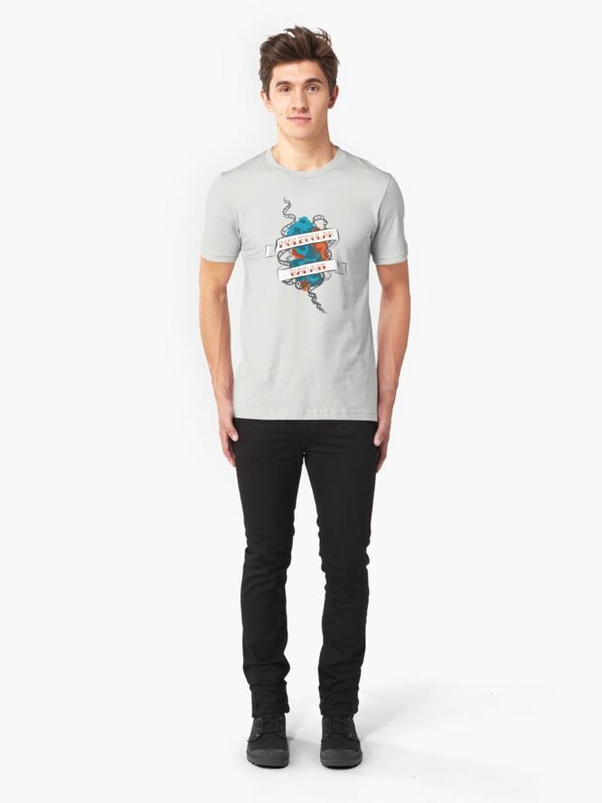 Alternate view of Molecular Badass Tattoo Slim Fit T-Shirt