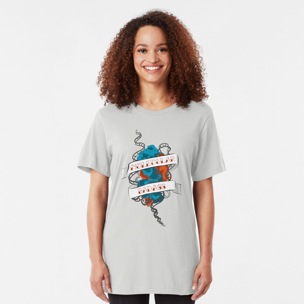 Molecular Badass Tattoo Slim Fit T-Shirt