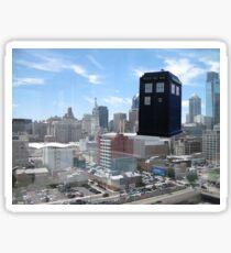 TARDIS Over Philly Sticker
