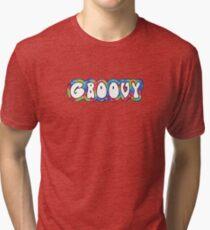 groovy tie dye pattern Tri-blend T-Shirt