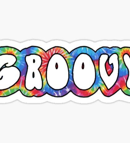 groovy tie dye pattern Sticker