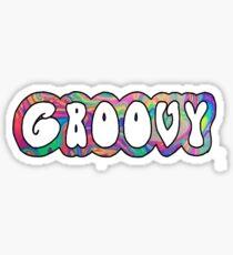 groovy metallic pattern Sticker