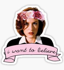 I want to believe t-shirt Sticker