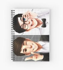 Dan & Phil - Black & White Spiral Notebook