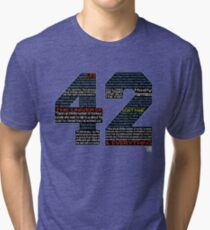 Hitchhiker's Guide 42 Quotes Tri-blend T-Shirt