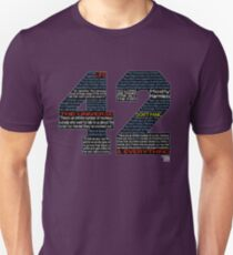 Hitchhiker's Guide 42 Quotes Unisex T-Shirt