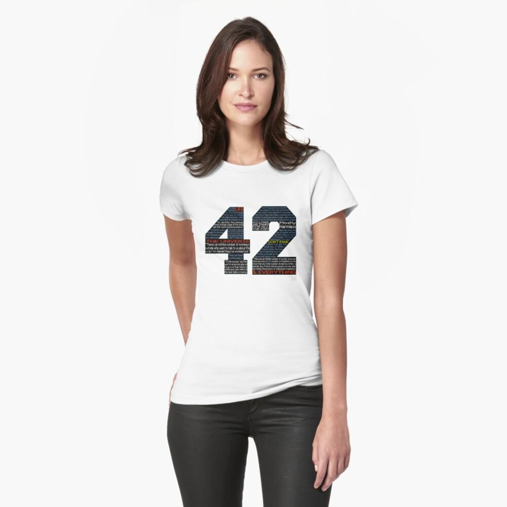 Per Anhalter 42 Zitate Tailliertes T-Shirt