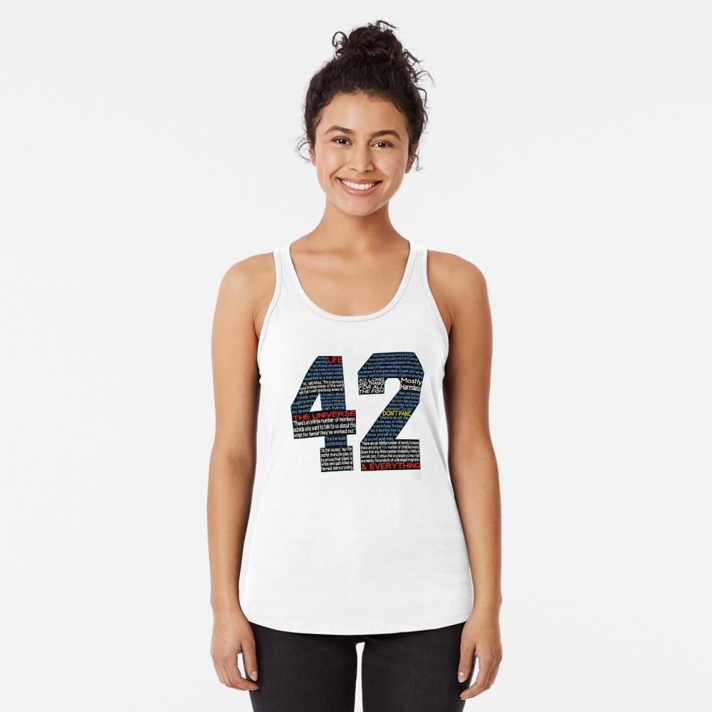 Per Anhalter 42 Zitate Racerback Tank Top