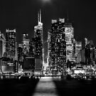 Moonrise Over 42nd St. by Wayne Ross