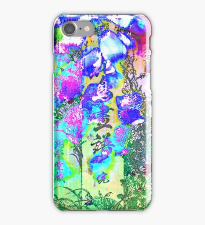 Blossoms Color Text Surreptitiously iPhone Case/Skin