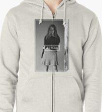 Alycia Debnam-Carey Black and White Name Zipped Hoodie