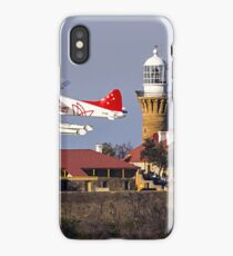 Sydney Seaplanes in front of Palm Beach Lighthouse iPhone Case/Skin