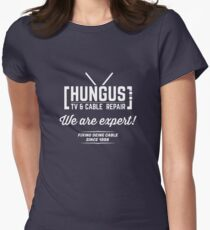 Hungus TV & Cable Repair Womens Fitted T-Shirt