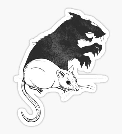 The Strange Case of Dr. Mouse and Mr. Rat Sticker