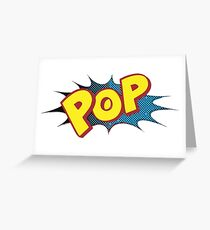 Pop Logo by American Jank Greeting Card