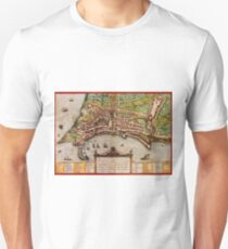 Ancona Vintage map.Geography Italy ,city view,building,political,Lithography,historical fashion,geo design,Cartography,Country,Science,history,urban Unisex T-Shirt