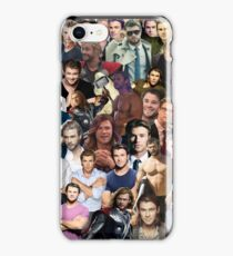 Chris Hemsworth Collage  iPhone Case/Skin