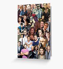 Chris Hemsworth Collage  Greeting Card