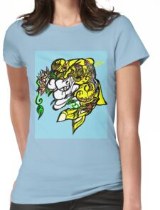 Fisherman and the fish Womens Fitted T-Shirt