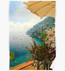 Relaxing in Positano Poster