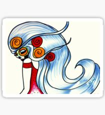 Red Dress / Catrina de Rojo Sticker