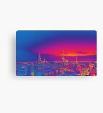 NYC Skyline Neon Canvas Print