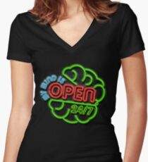 Grand Opening Women's Fitted V-Neck T-Shirt