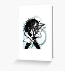claudio sanchez coheed & cambria black and white artwrok Greeting Card