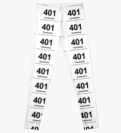 401 Unauthorized Proper authorization is required to access this resource! Leggings