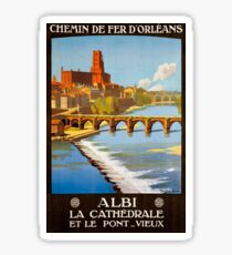Albi, French Travel Poster Sticker