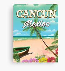 Cancun Mexico beach poster Canvas Print