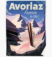 Avoriaz, French Ski travel poster Poster