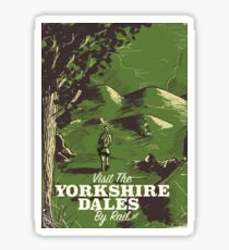Yorkshire Dales vintage style travel poster Sticker