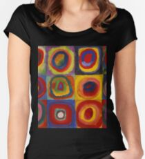 Kandinsky pattern Women's Fitted Scoop T-Shirt
