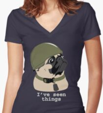 Pug of War Women's Fitted V-Neck T-Shirt