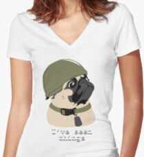 Pug of War Women's Fitted V-Neck T-Shirt