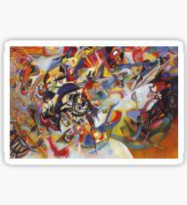 Bunte ausführliche Kandinsky Malerei Sticker
